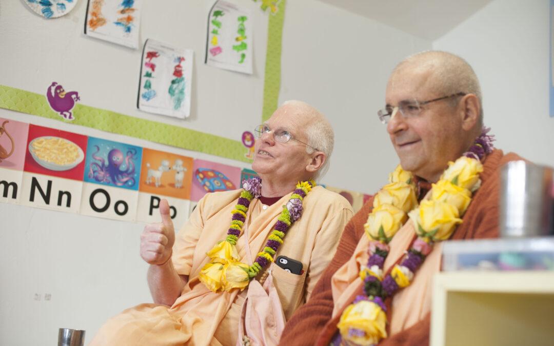 Special Visitors-HH Giriraj Swami & HH Rtadhvaja Swami